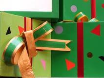 Presentes com fita Fotos de Stock Royalty Free