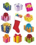 Presentes comemorativos do inverno Imagens de Stock Royalty Free