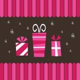 Presentes cor-de-rosa ilustração royalty free