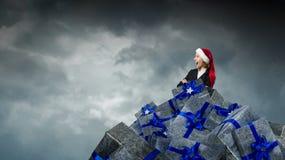 Presentes corporativos de la Navidad Técnicas mixtas Fotos de archivo libres de regalías