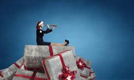Presentes corporativos de la Navidad Técnicas mixtas Imagenes de archivo