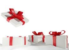 Presentes 3d-illustration do Natal da neve Fotografia de Stock Royalty Free