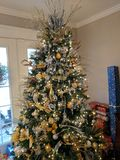 Presentes da árvore de Natal Fotografia de Stock