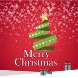 Presentes da árvore de Natal materiais Foto de Stock