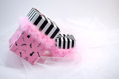 Presentes da cor-de-rosa Fotografia de Stock