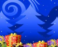 Presentes da sagacidade da noite de Natal Imagens de Stock Royalty Free