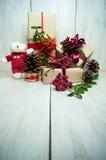 Presentes de época natalícia brilhantes Imagem de Stock Royalty Free
