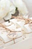 Presentes de casamento para o convidado Foto de Stock Royalty Free