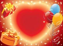 Presentes de cumpleaños stock de ilustración