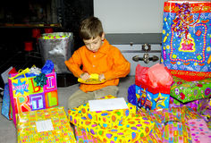 Presentes de cumpleaños imagen de archivo libre de regalías