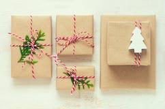 Presentes de la Navidad o del Año Nuevo Imagen de archivo libre de regalías