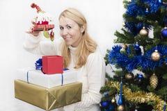 Presentes de la Navidad y del Año Nuevo Fotografía de archivo