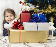 Presentes de la Navidad y del Año Nuevo Imágenes de archivo libres de regalías