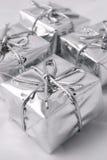 Presentes de la plata Foto de archivo libre de regalías
