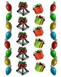 Presentes de las alarmas de las luces de las fronteras de la Navidad Fotos de archivo libres de regalías