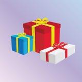 Presentes de las cajas de regalo Foto de archivo libre de regalías