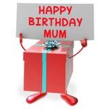 Presentes de los medios de la momia del feliz cumpleaños para la madre Fotografía de archivo libre de regalías