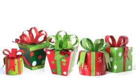 Presentes de Natal fotos de stock royalty free