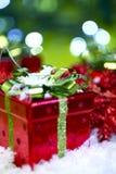 Presentes de Natal Fotografia de Stock Royalty Free