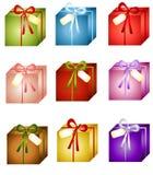 Presentes de Natal Assorted ilustração royalty free