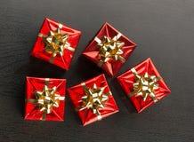 Presentes de Natal com curvas Foto de Stock Royalty Free