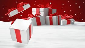 Presentes de Natal 3d-illustration ilustração royalty free