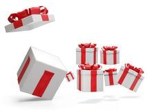 Presentes de Natal 3d-illustration ilustração do vetor