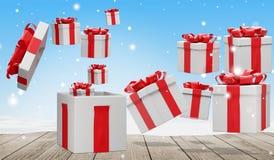 Presentes de Natal 3d-illustration ilustração stock