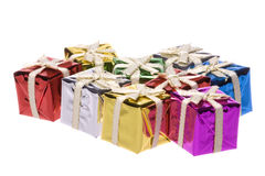 Presentes de Natal isolados Fotografia de Stock