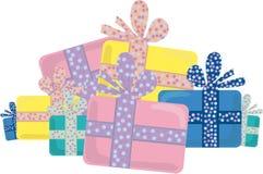Presentes de Navidad ilustración del vector