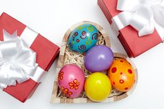 Presentes de Pascua Imagen de archivo libre de regalías