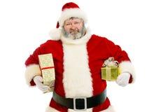 Presentes de Santa imagens de stock