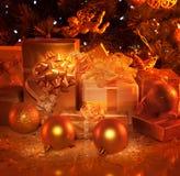 Presentes del Año Nuevo Foto de archivo libre de regalías