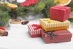 Presentes del Año Nuevo Imagen de archivo libre de regalías