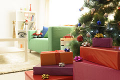 Presentes del ½ del ¿de Wrappedï Foto de archivo libre de regalías