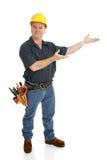 Presentes del trabajador de construcción Imagen de archivo libre de regalías