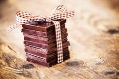 Presentes deliciosos do chocolate, feitos à mão Fotos de Stock Royalty Free