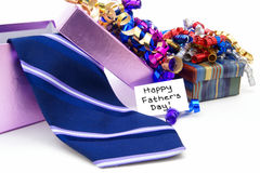 Presentes do dia de pais Foto de Stock Royalty Free
