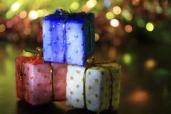 Presentes do feriado Fotografia de Stock Royalty Free