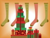 Presentes do Natal Fotos de Stock