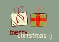 Presentes do Natal Fotografia de Stock