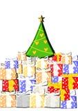 Presentes do Natal Foto de Stock Royalty Free