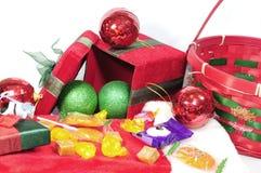 Presentes do Natal abertos Imagem de Stock