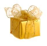 Presentes do Natal do ouro imagem de stock royalty free