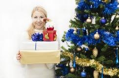 Presentes do Natal e do ano novo Imagens de Stock
