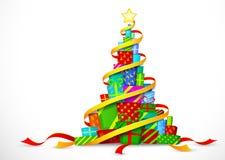 Presentes do Natal. Ilustração do vetor Imagens de Stock