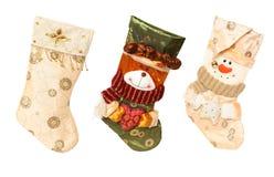 Presentes do Natal, meias do Natal Fotos de Stock
