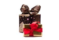 Presentes do Natal, no branco Imagens de Stock