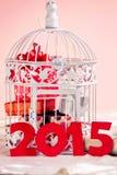 Presentes do Natal por 2015 anos Imagem de Stock