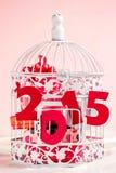 Presentes do Natal por 2015 anos Imagens de Stock Royalty Free